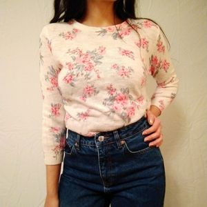Floral sweater top